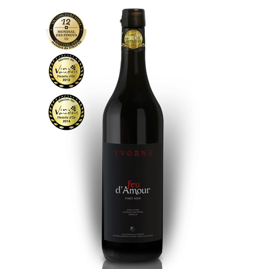 Chablais AOC Feu d'Amour – Pinot Noir – Artisans Vignerons Yvorne Rouge